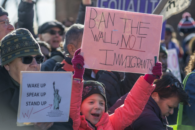NY: Demonstrators protest President Trump's immigration and border security agendas