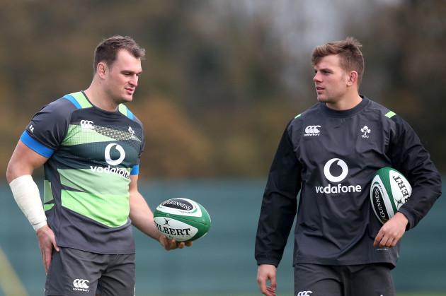 Rhys Ruddock and Jordi Murphy