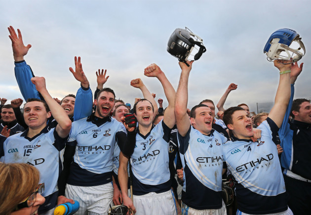 Na Piarsaigh players celebrate after the game