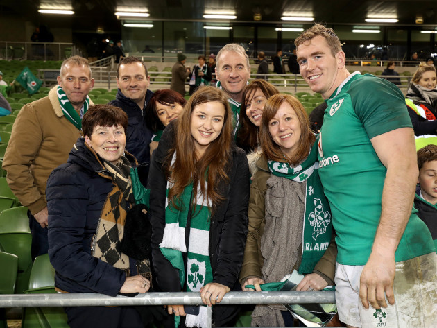 Chris Farrell with his family after the game