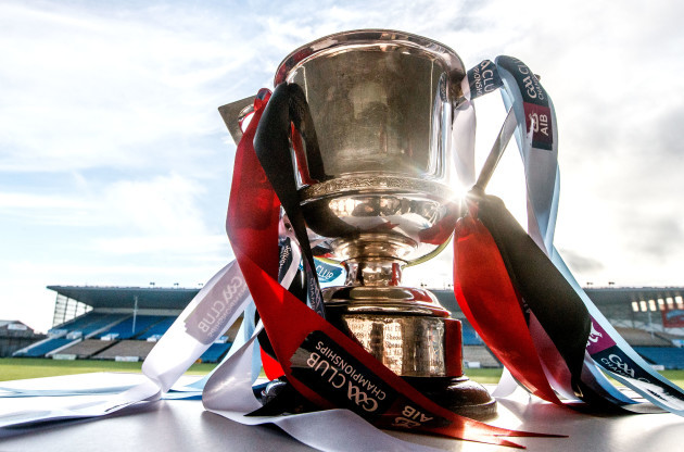 A view of the Munster Senior Hurling Club Championship Trophy