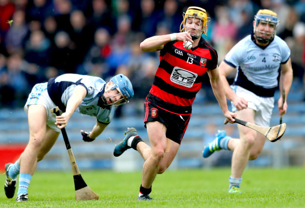 Conor Power gets past Jermone Boylan and Niall Buckley to score his sides opening goal