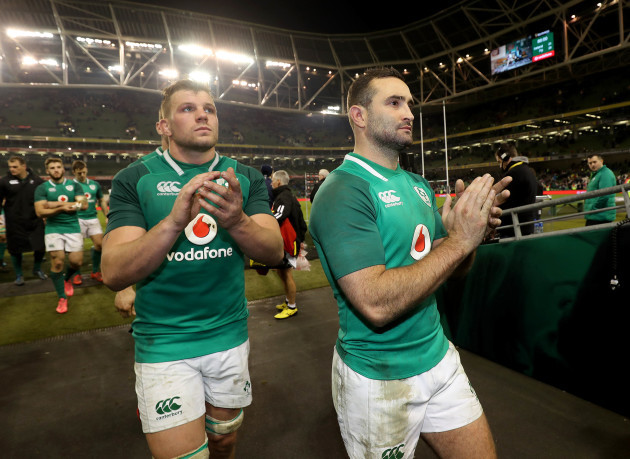 Jordi Murphy and Dave Kearney after the game