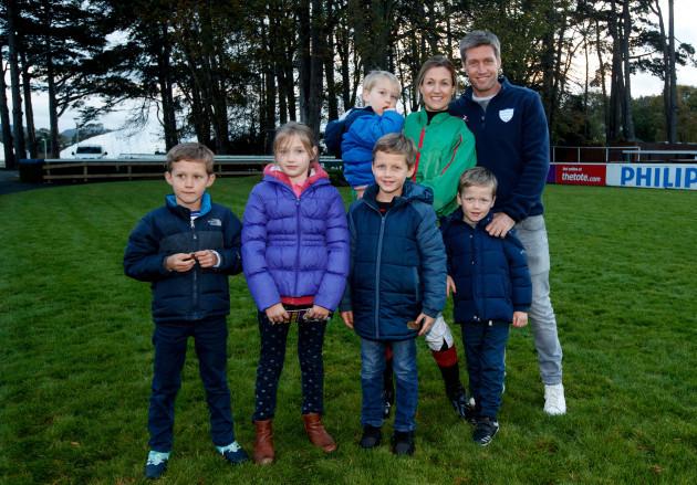 Jessica and Ronan O'Gara with their children JJ, Molly, Max Rua and Zac