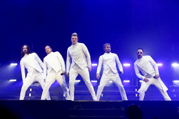 The Backstreet Boys perform at the Festival D'ete De Quebec