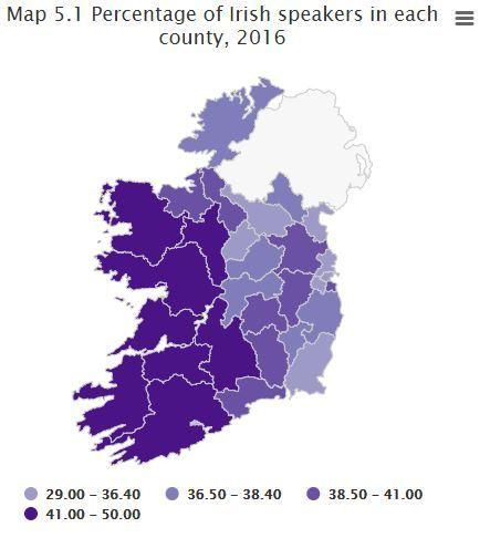 Time To Scrap The Irish Language Political Irish - Irish language map