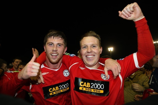 John Sullivan and Ian Ryan celebrate
