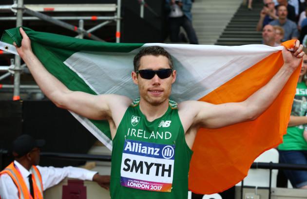 Jason Smyth celebrates winning the final
