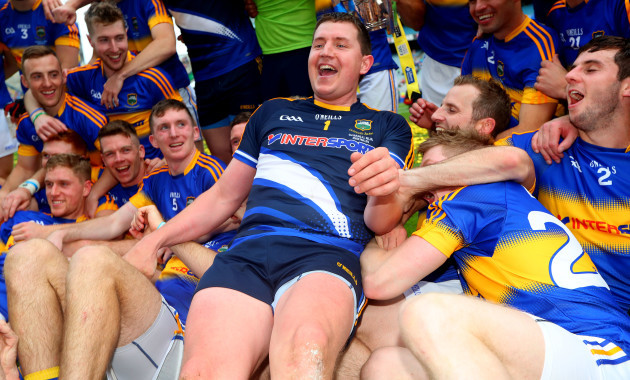 Darren Gleeson celebrates