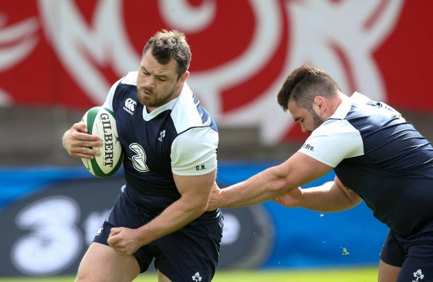 Cian Healy and Marty Moore