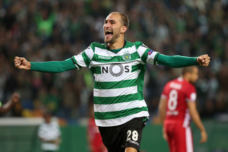 UEFA Champions League group D football match Sporting CP vs Olympiacos FC