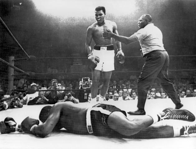 Box fight Ali and Liston