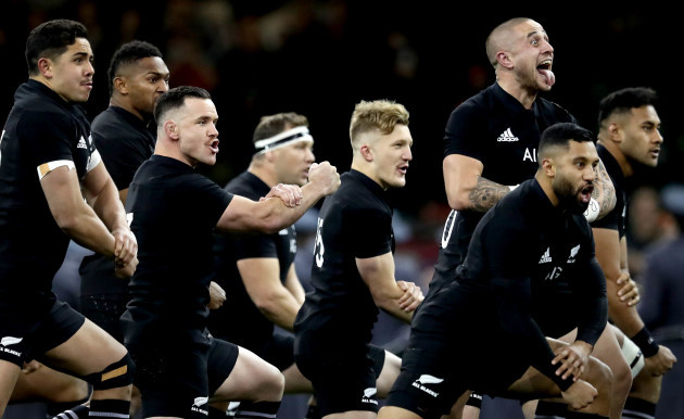 TJ Perenara during the Haka