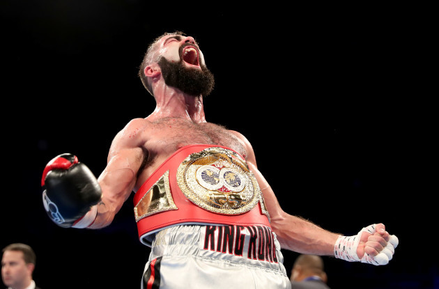 Jono Carroll celebrates his victory