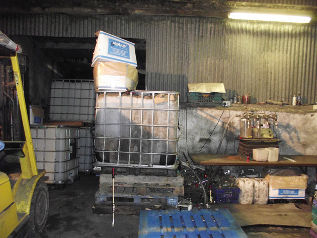 interior of vodka plant  Louth