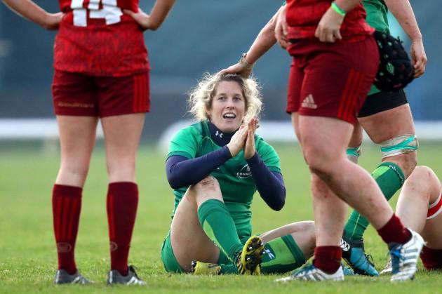Alison Miller celebrates after the game