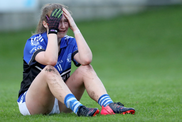 Jenny Murphy dejected after the game