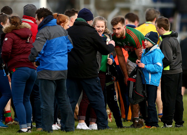 Aidan O'Shea meets fans after the game