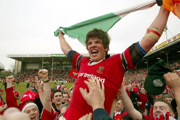 Donncha O'Callaghan celebrates