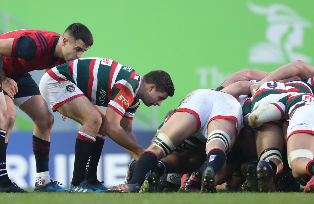 Munster's Conor Murray and Leicester's Ben Youngs