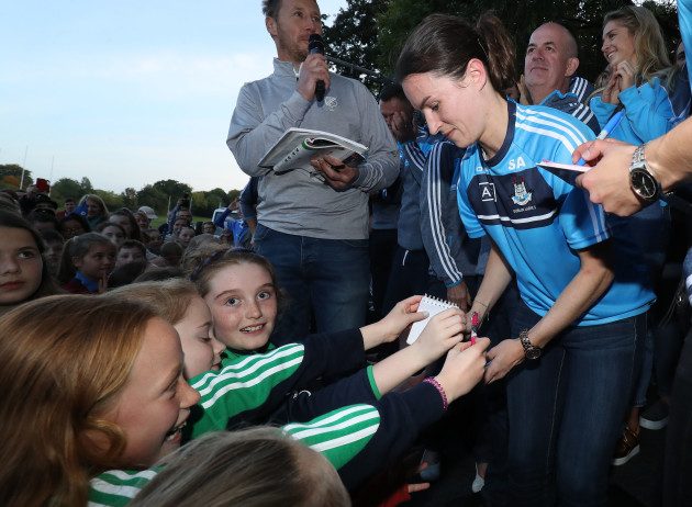 Sinead Aherne signs autographs for young fans