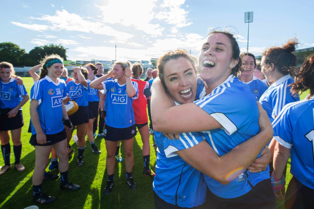 Grainne Quinn and Sarah O'Donovan celebrate