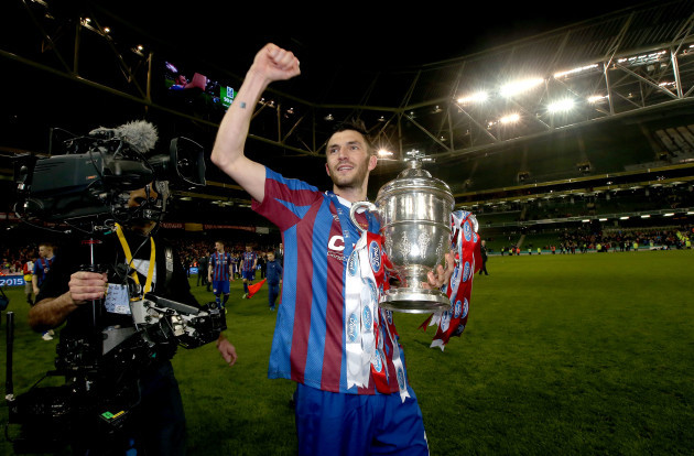 Killian Brennan celebrates with The FAI Ford Cup