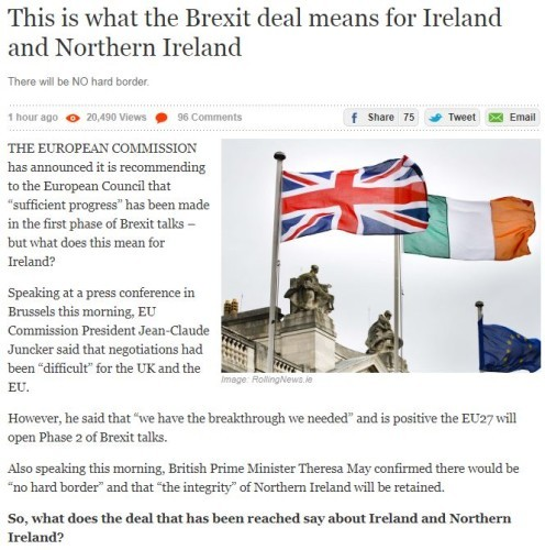 As it happened eu and uk agree no hard border on a very brexit deal ireland solutioingenieria Image collections