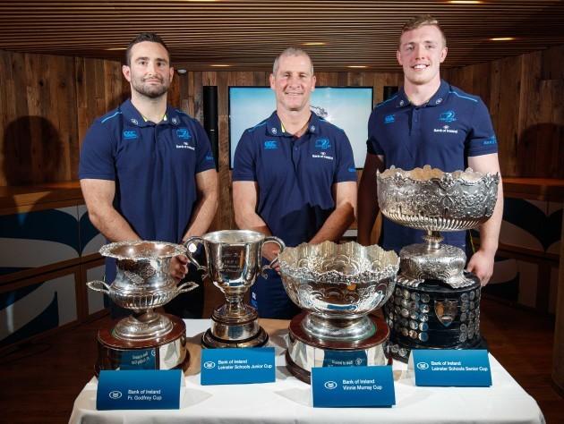 Dave Kearney, Stuart Lancaster and Dan Leavy
