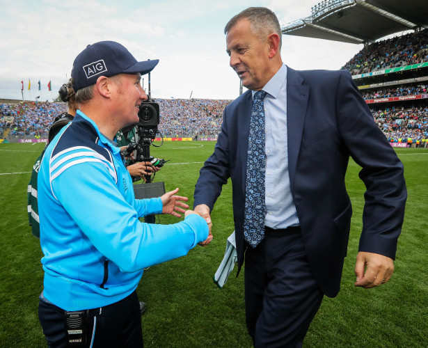 Jim Gavin celebrates with John Costello