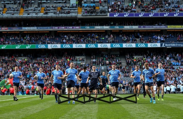 The Dublin team arrive for the team photo