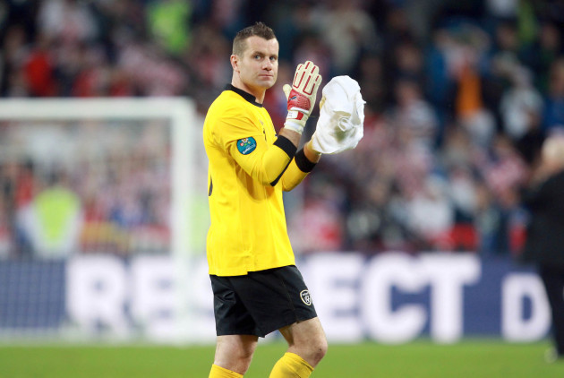 Shay Given at the end of the game