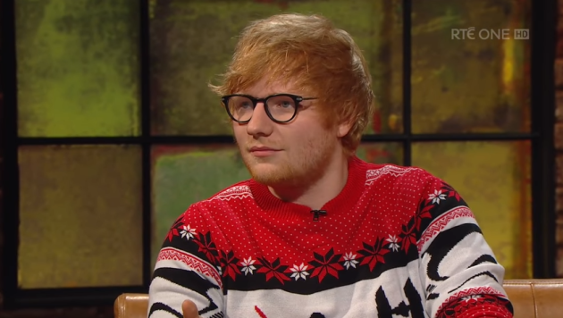 Not everybody liked Ed Sheeran on last night's Late Late Show