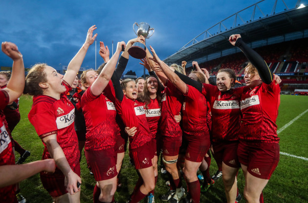 Munster celebrate winning The Women's Interprovincial Series