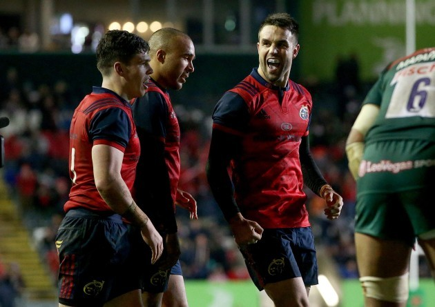 Conor Murray celebrates at the final whistle 17/12/2017