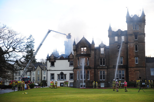Two die as guests wake to blaze at luxury loch hotel