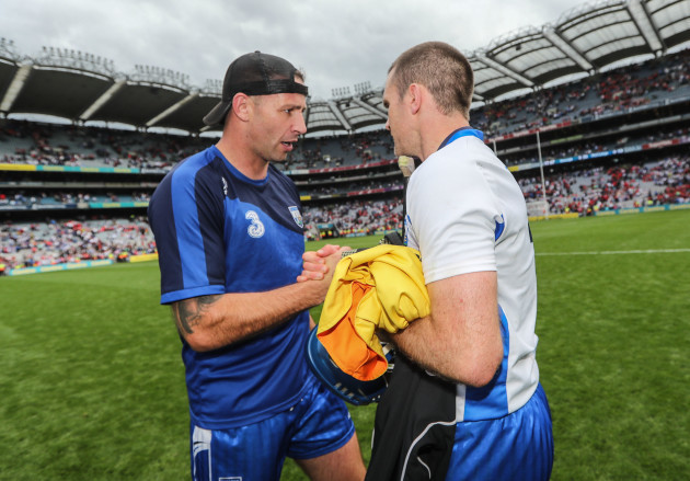 Dan Shanahan and Michael Walsh after the game