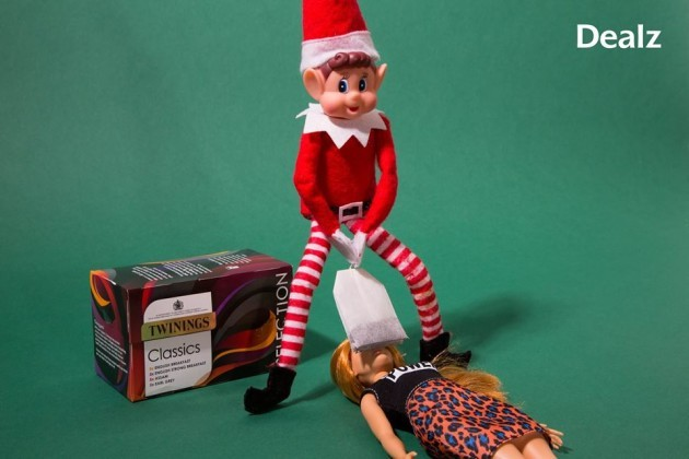 Poundland sparks OUTRAGE with VERY naughty Elf on the Shelf pictures