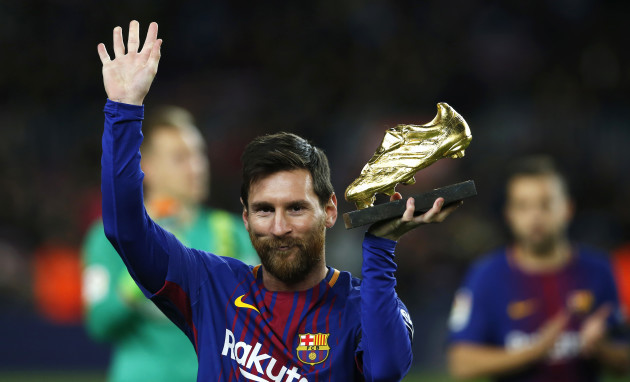 Spain Soccer Messi Golden Shoe