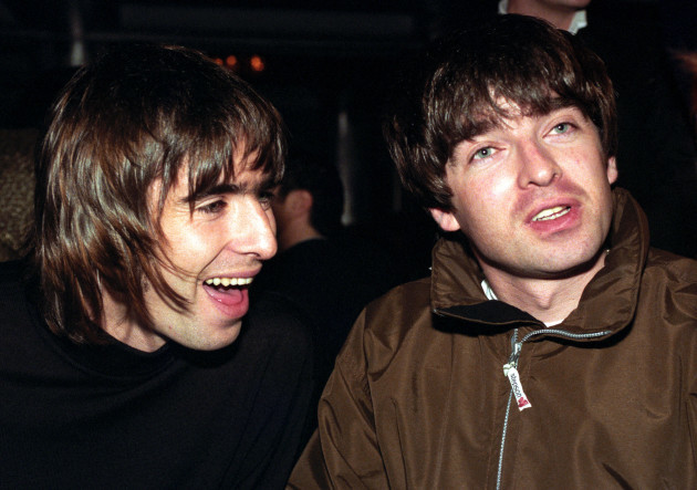 Q Magazine Music Awards - Liam and Noel Gallagher  - 1996