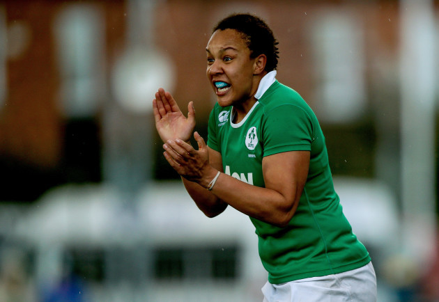 Sophie Spence celebrates at the final whistle