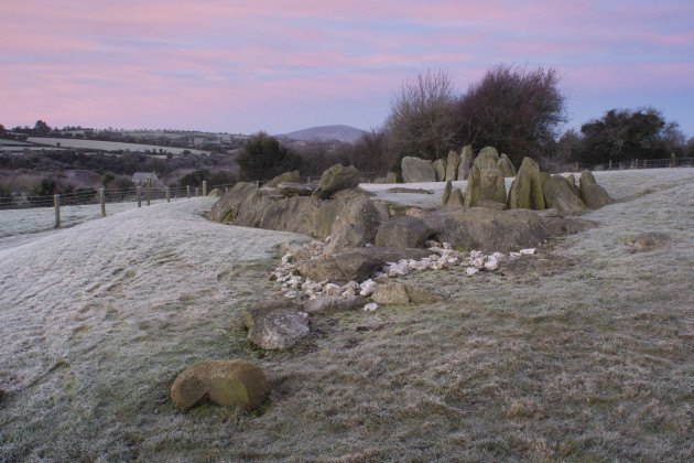 Knockroe Solstice Eve dawn 2016 by Pete Smith