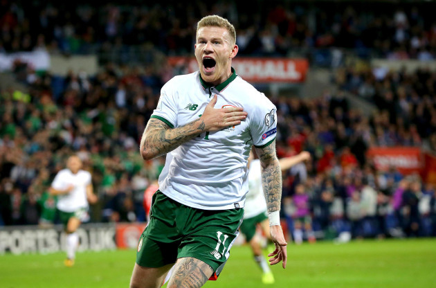 James McClean celebrates scoring his sides opening goal
