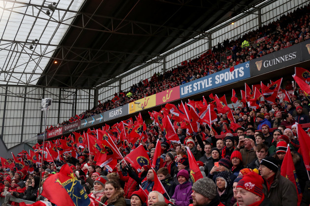 A view of a sold out Thomond Park