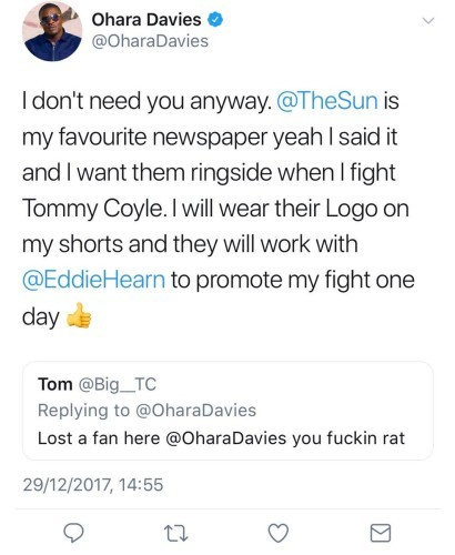 Hearn pulls Davies from O2 card