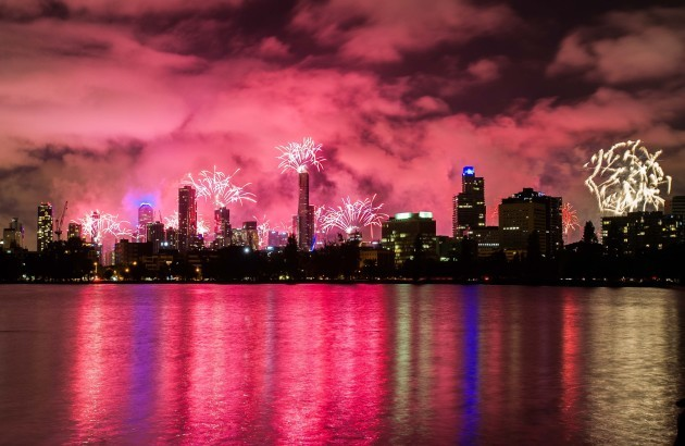 (WORLD SECTION) AUSTRALIA-MELBOURNE-NEW YEAR'S EVE-CELEBRATION