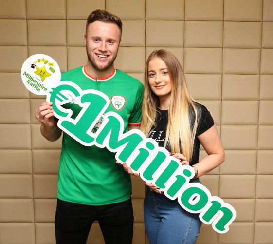 Millionaire Raffle winner collects €1 million Euro from National Lottery 0P1A8850