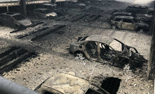 Photographs of cars destroyed in Liverpool auto park fire released