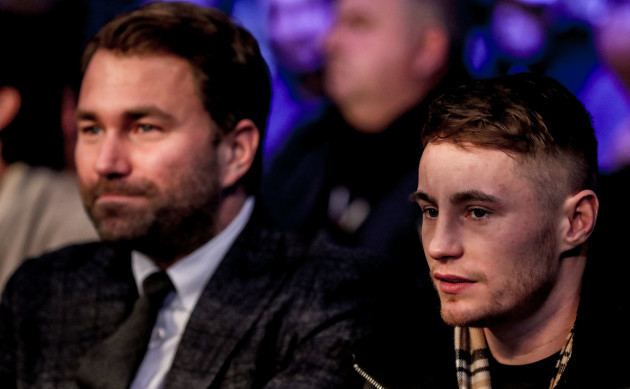 Eddie Hearn and Ryan Burnett