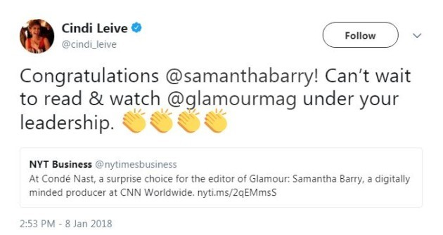 Glamour Hires CNN Alumna as New Editor-in-Chief